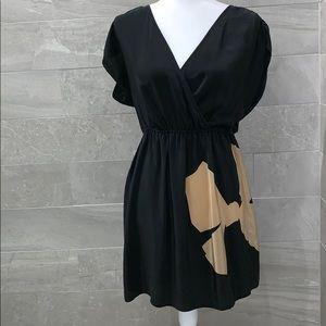 Petticoat Alley Black Silk Tunic Top Dress Medium